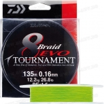 Плетено влакно Daiwa Tournament 8 EVO Chartreuse 135м жълто