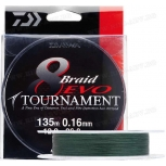 Плетено влакно Daiwa Tournament 8 EVO Dark Green 135м тъмно зелено